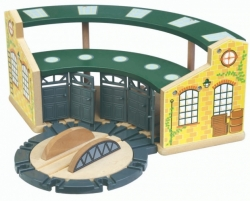 Train Depot with Turntable - Maxim 50951